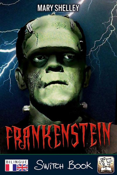 Livre bilingue anglais français Frankenstein bilingual novel  Switch Book