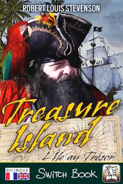L'Ile au trésor roman d'aventure bilingue anglais-français Switch Book