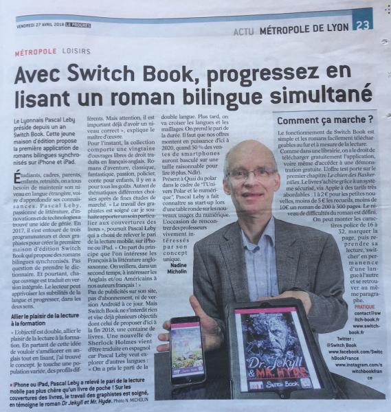 Le-Progres-article sur lesromans bilingues Switch Book