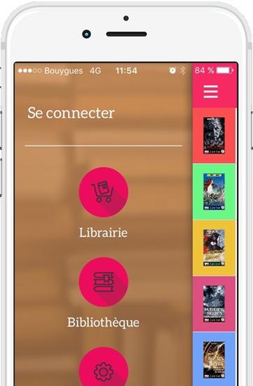 écran iphone application de livres bilingues Switch Book 361x550